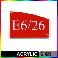 Nomor Rumah Acrylic/Akrilik