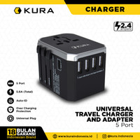 KURA Universal Travel Charger & Adapter