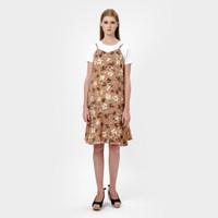 Floral Pattern Mini Dress