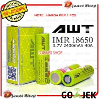 Authentic AWT GREEN 2400mAh 40A Batterry AWT Hijau NEW EDITION [235]