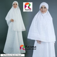 Gamis Putih Stelan Bergo / Gamis untuk Umroh