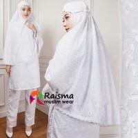 Stelan Cubit Putih dan Bergo/Stelan Tunik dan Celana Panjang