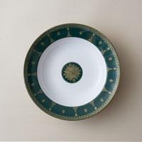 ZEN by Ghea Panggabean Piring Sup Songket - Hijau 24 cm