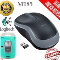 Mouse Wireless Logitech M185 ORIGINAL RESMI , Wireless Mouse M 185