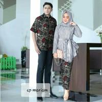 Cp Mariam/Couple Kebaya Brukat Lapis Saten Import/Couple Batik