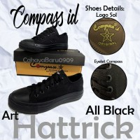 Sepatu Compass Low All Black 37-43