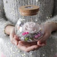 White Mini Preserved Flower