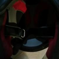 Jual helm full face KYT Merah Putih LAYAK PAKAI