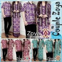 Baju Muslim Gamis Batik Couple Zoya - Baju Pesta Couple Best Quality