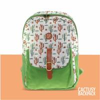 Tas ransel – backpack casual THREEREY CACTUSY TA10240 Hijau