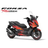 Decal stiker Honda Forza 250 FLAMEBLAST