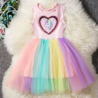 BAJUKIDDIE UNICORN DRESS SEQUIN . ANAK IMPORT KUDA PONY little poni