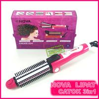 Harga nova lipat 3in1 alat catok rambut portal curl iron 26 mm hair   antitipu.com