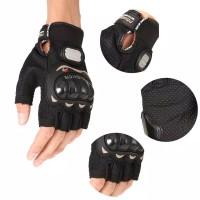 Sarung Tangan Sepeda Motor Half Finger Black Original Import Gloves