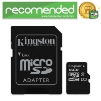 Kingston Canvas Select MicroSDHC/XC UHS-I Class 10 (80MB/s) - 16GB