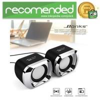 BONKS Multimedia Speaker Stereo 2.0 3W - DX12 - Hitam