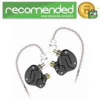 Knowledge Zenith Hybrid Earphone 1BA 1DD - KZ-ZSN - Hitam