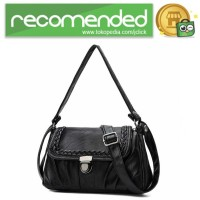 Tas Selempang Wanita Korean Style Bag - ER6156 - Hitam