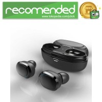 True Wireless Earphone Bluetooth dengan Charging Case - Hitam