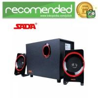 SADA SL-8018 Speaker Stereo 2.1 Wood with Subwoofer & USB Power - Hit