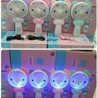 Kipas Angin Lampu Led Genggam Lipat Hand Mini Fan Usb Karakter