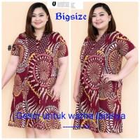 Dress Batik Sandy 109/Dress Batik Katun Stretch Jumbo Size