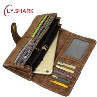 Dompet Wanita Yang Ada Tempat HP LY.SHARK Leather Female Purse