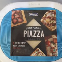 bonchef pizza base square 12x12 cm 5pcs