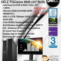 DELL Precision T5820 MT Xeon W-2155/64GB/3 x 2TB+512GB/VGA 8GB/W10PRO