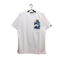 f94baa603 Baju Kaos Tshirt Skate A Bathing Ape Bape Camo Pocket White Premium
