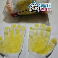 Sarung Tangan Kerja Tukang Putih Bintik Kuning