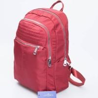 Tas Ransel Wanita Import Backpack Fashion 2 RUANG Nilon Victorie Alle