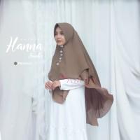 Khimar Hanna Jumbo PEANUT Amily Hijab Bahan Soft Georgette