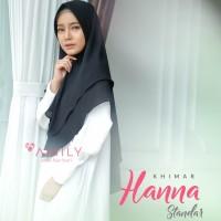 Khimar Hanna Standar BLACK HITAM Amily Hijab Bahan Soft Georgette