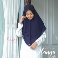 Khimar Hanna Standar NAVY Amily Hijab Bahan Soft Georgette