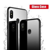16311e5aa54fdb MUCHI For Xiaomi Mi A2 Lite Case Tempered Glass Soft Silicone Frame