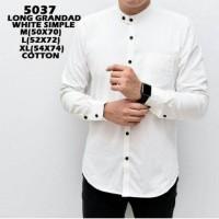 Kemeja Cowok Putih Polos Sanghai Panjang Baju Pria Resmi Casual