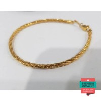 Terlaris Gelang emas asli kadar 750 gelang ubs gelang tali bulat