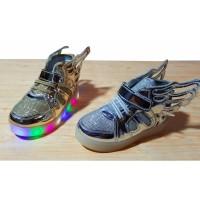 sepatu import lampu led anak / kids / sekolah/ fashion