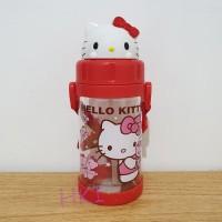 Botol Minum Anak Sedot Kepala Hello Kitty 3021 Red
