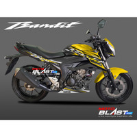 Decal Stiker Suzuki GSX 150 BANDIT YELLLOW SPORTY BLACK MOTOBLAST
