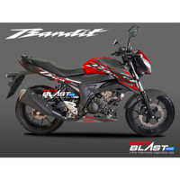 Decal Stiker Suzuki GSX 150 BANDIT RED SPORTY BLACK MOTOBLAST