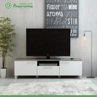 Anya-Living Rak TV Pico 3 CF Sonoma Brown - Putih