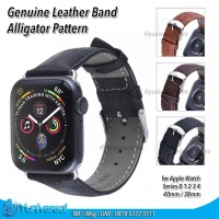 Apple Watch 40mm / 38mm Leather Band Kulit Strap Alligator Tali Buckle