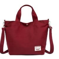 Women Spring Color Nylon Cross Body Bag / Tas Selempang Wanita