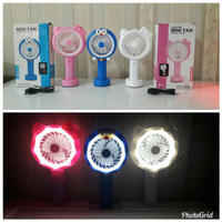 Kipas Angin Mini Genggam Lampu Led Hand Mini Fan Usb Portable Karakter