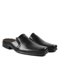 Sepatu Santai Bustong Murah + Sandal Tutong Crocodile Pocinki hitam