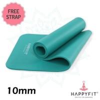 matras yoga HAPPYFIT NBR 10mm/yoga mats/matras senam tebal 10mm