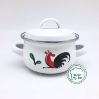 Panci Kecil Ayam Jago Seri 2 / Ukuran 12cm / Panci Enamel