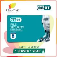 New Sofware Antivirus ESET File Security 1 Server 1 Year